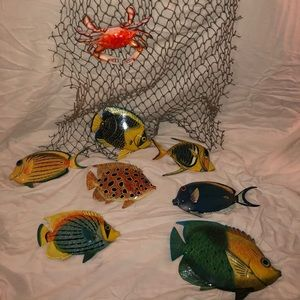 Fish Net with Plastic Fish
